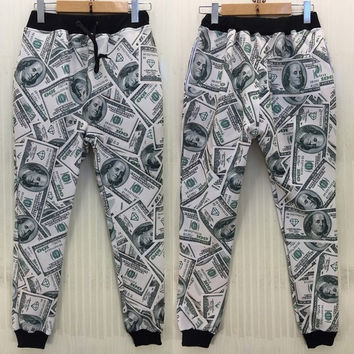 New men/women/Boy sport jogging pants 3D funny print USA dollar parkour running sweatpants long joggers = 5710907393