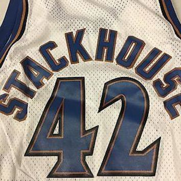 JERRY STACKHOUSE #42 WASHINGTON WIZARDS NIKE WHITE SWINGMAN JSY SHIPPING