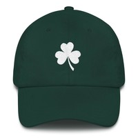 Clover Embroidered St. Patricks Day Trucker Cap