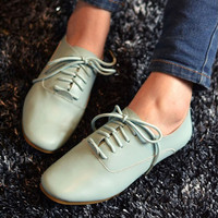 Casual Oxford Shoe Mint Green from Pop and Shop