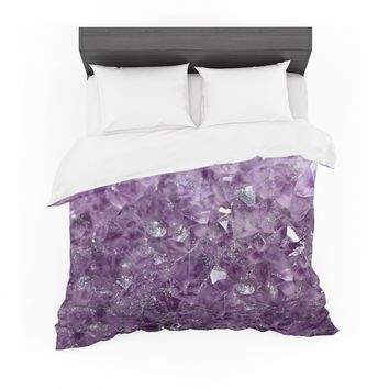 "Robin Dickinson ""Amethyst Sparks"" Purple Pink Digital Featherweight Duvet Cover"