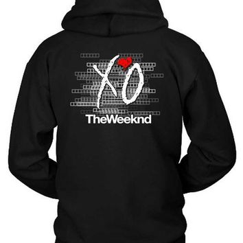 The Weeknd Logo Blur Background Title Hoodie Two Sided