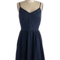 ModCloth Sleeveless A-line Frappe Me a Visit Dress