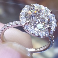 Halo Engagement Ring by Hadar Diamonds