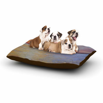 "Carol Schiff ""Evening Anchor"" Orange Painting Dog Bed"