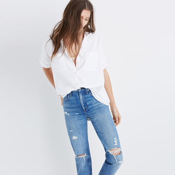 White Cotton Courier Shirt : | Madewell