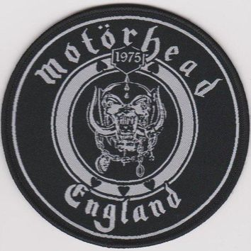 Motorhead Sew On Patch Round England Logo