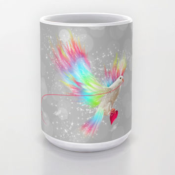 I Carry Your Heart With Me (Neon Wings Series I) Mug by soaring anchor designs ⚓