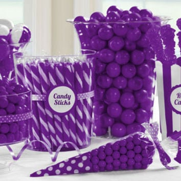 Purple Candy Buffet- Party City