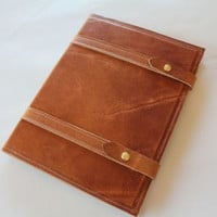 Large Leather Portfolio in Chestnut