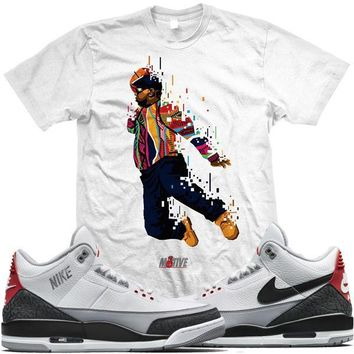 Jordan Retro 3 Tinker Sneaker Tees Shirt - AIR BIGGIE