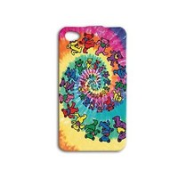 Fun Grateful Dead Psychedelic Bear Case iPhone 4 4s 5c 5 5s 6 6s Plus iPod Cover