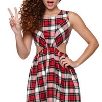 Kirra Plaid Fit And Flare Dress at PacSun.com