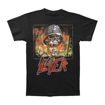 Slayer Men's  Impaled Skull T-shirt Black