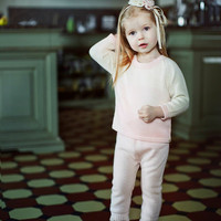 Baby Alpaca Wool Ombre Girl Pullover Sweater