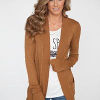Down By The Bay Knit Cardigan -Camel