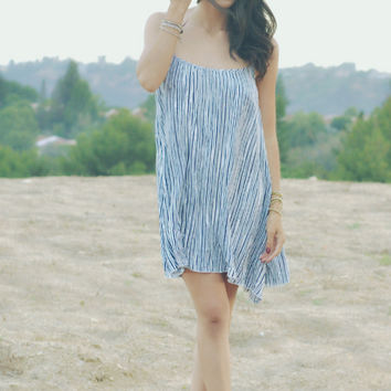 Noah Camisole in Blue/White Stripe