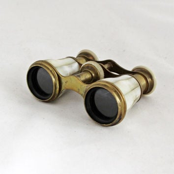 Antique German Binoculars Opera Theater Glasses