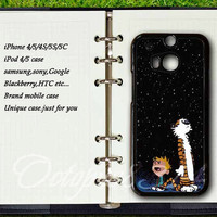 samsung galaxy S4active case,htc one m8 / S / X / m7 case,samsung S3mini / S4mini / S3 / S4 / S5 /  case,Calvin and Hobbes,Blackberry Z10