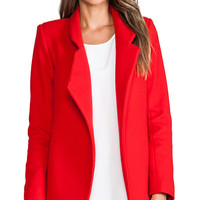 NICHOLAS Felted Wool Coat in Red