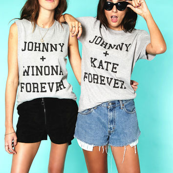 Johnny + Kate Forever Tee in Grey