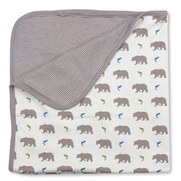 Bear Receiving Blanket - Organic Cotton