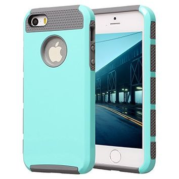iPhone 5S Case, iPhone 5 Case, AUMI Dual Layer Hybrid Luxury Fashion Shockproof Soft Hard Case Cover for Apple iPhone 5/5S