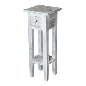Shutter End Table White Washed White Wash