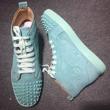 Cl Christian Louboutin Lou Spikes Style #2196 Sneakers Fashion Shoes