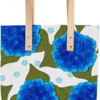 Blue Hydrangea Floral Print Summer Fashion Tote Bag created by Pasion4Fashion | Print All Over Me