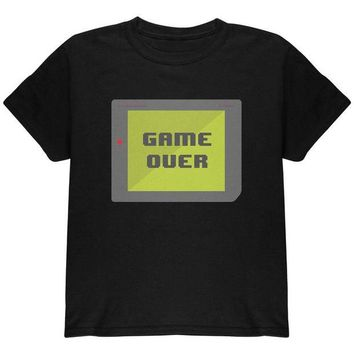 DCCKIS3 Halloween Old School Gamer Game Over Youth T Shirt