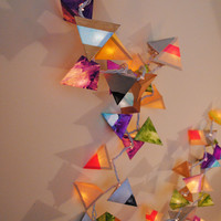 Paper Pyramid Light Garland - The Kaleidoscope - Long Strand