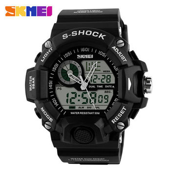 Skmei G Style Luxury Brand S-SHOCK Digital Watch Sports Men's Watch waterproof Quartz-watch clock Wristwatch Relogio Masculino
