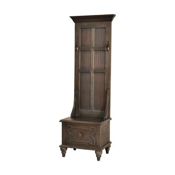 7011-317 Tobin Hall Tree In Heritage Grey Stain - Free Shipping!