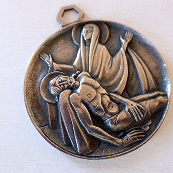 Vintage French Bronze Medallion Fernand Py