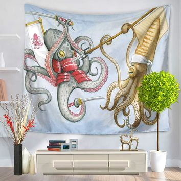 Tapestry 3D Printed Octopus Mediterranean Style Sheets Wall Blankets Mat Beach Towels Mandala Tapestry Wall Hanging Tapiz Pared