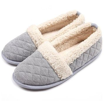 DCCK3SY ChicNChic Women Plush House Slippers Ladies Non Slip Indoor Winter Bedroom Shoes