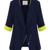 'The Wren' Yellow Trimmed Collared Blazer