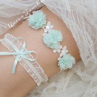 OFF WHITE wedding garter, bridal garter, lace garter, keepsake and toss garter, wedding garter, flower garter, customizable, garter