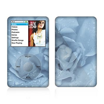 The Drenched Blue Rose Skin For The Apple iPod Classic