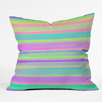 Rebecca Allen A Thousand Stripes I Love You Throw Pillow