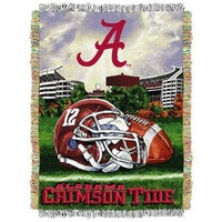 NCAA Alabama Crimson Tide 48-Inch-by-60-Inch Acrylic Tapestry Throw