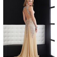 Jasz Couture 2014 Prom - Nude Sexy Rhinestoned Gown