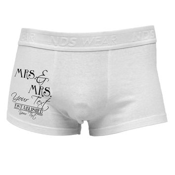 Personalized Mrs and Mrs Lesbian Wedding - Name- Established -Date- Design Side Printed Mens Trunk Underwear
