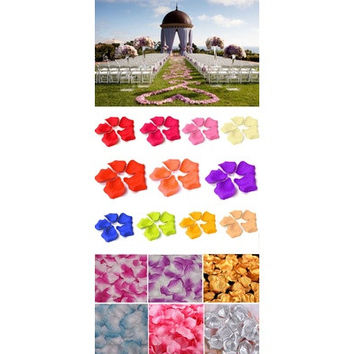 1000pcs Simulation Rose Petals Flowers For Wedding Party Decoration 17 Colors [7983320967]