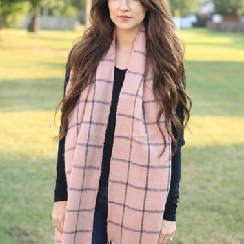 The Dusty Rose Plaid Scarf