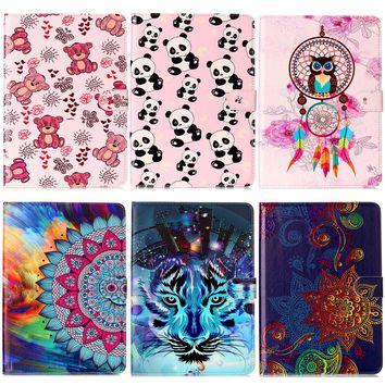New Case Panda Painting Tablet Book Cover Stand Leather Cases For Samsung Galaxy Tab E T560 T561 9.6 inch
