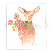 Society6 Lovely Deer Blanket