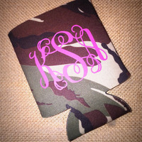 Custom Monogrammed Coozie- Many Color Options Available!