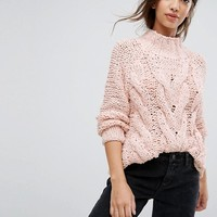 Vila Cable Knit Jumper at asos.com
